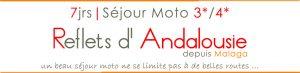 bagnère du voyage moto en Andalousie Espagne les reflets