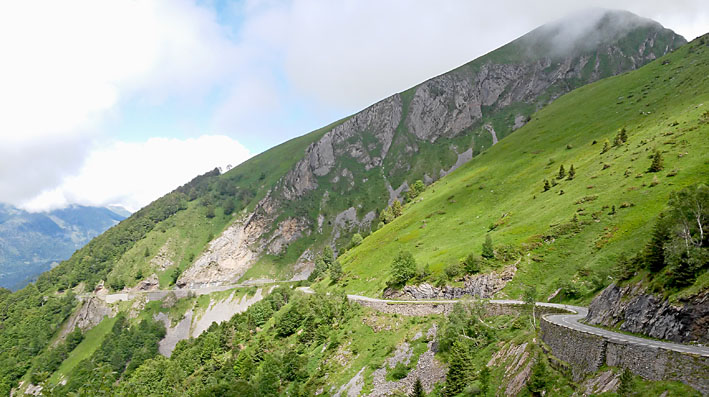 voyage moto Pyrénées entre Soulor et Aubisque