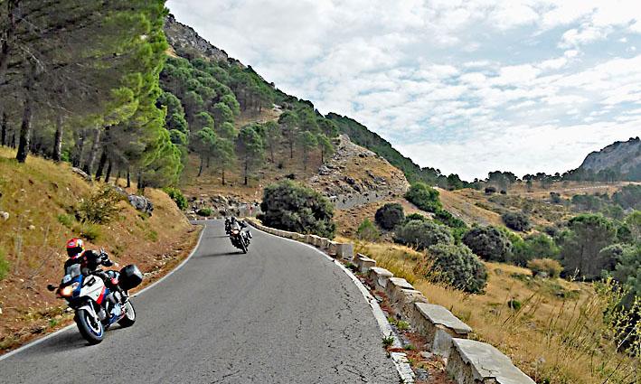 quelques beaux virages durant ce voyage moto en Espagne et Andalousie