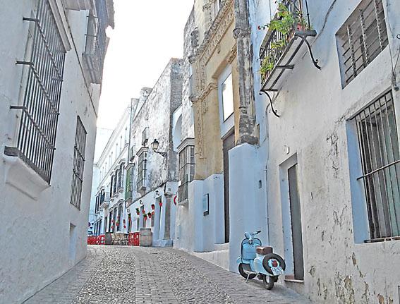 rue village voyage moto andalousie Espagne