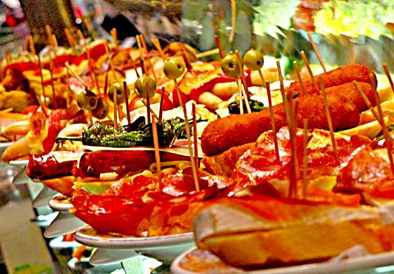 tapas repas voyage moto andalousie Espagne