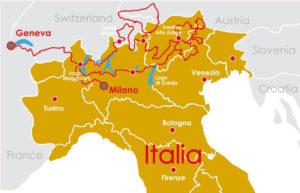 Carte Voyages Italie Dolomites Itineraire