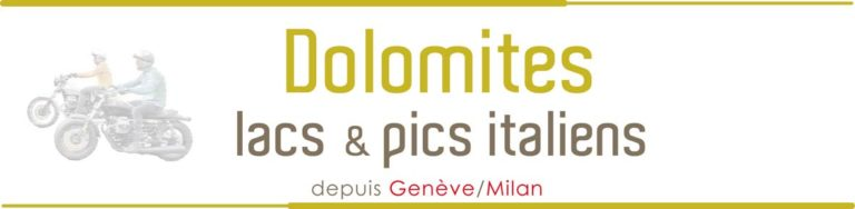 Voyages Moto Italie Dolomites Logo Titre