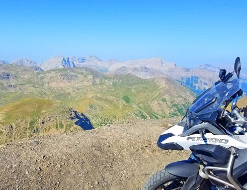 Sommet du col Bonette Voyage Moto